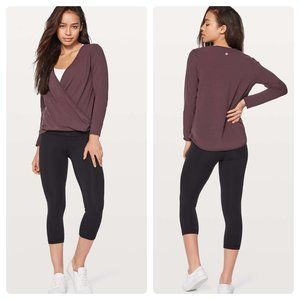 Lululemon Full Freedom Long Sleeve Black Cherry